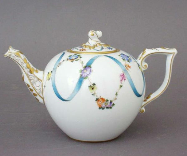 Teapot, Bird knob - Ribbon Flower