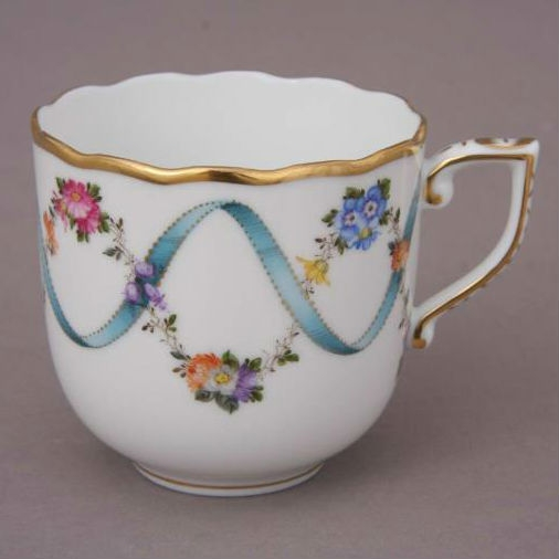 Espresso Cup & Saucer - Ribbon Flower