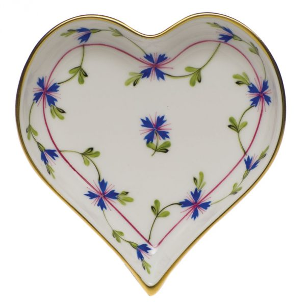 Small Heart Tray - Chinese Bouquet Colors