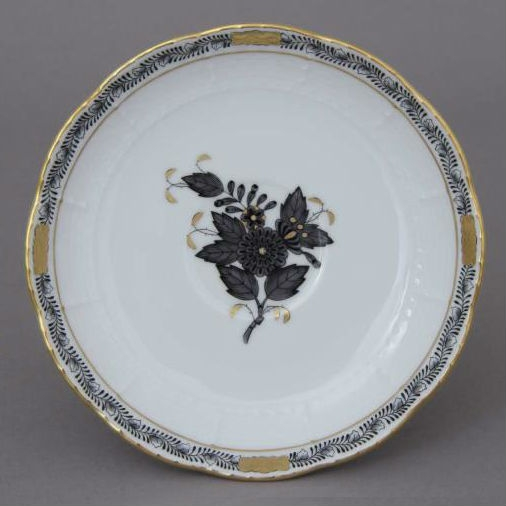 Coffee Cup and Saucer - Chinese Bouquet Black