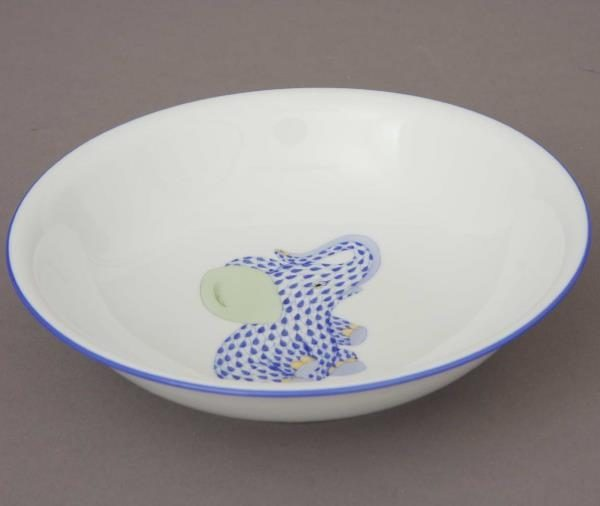 Cereal Bowl - Blue Fishnet Elephant