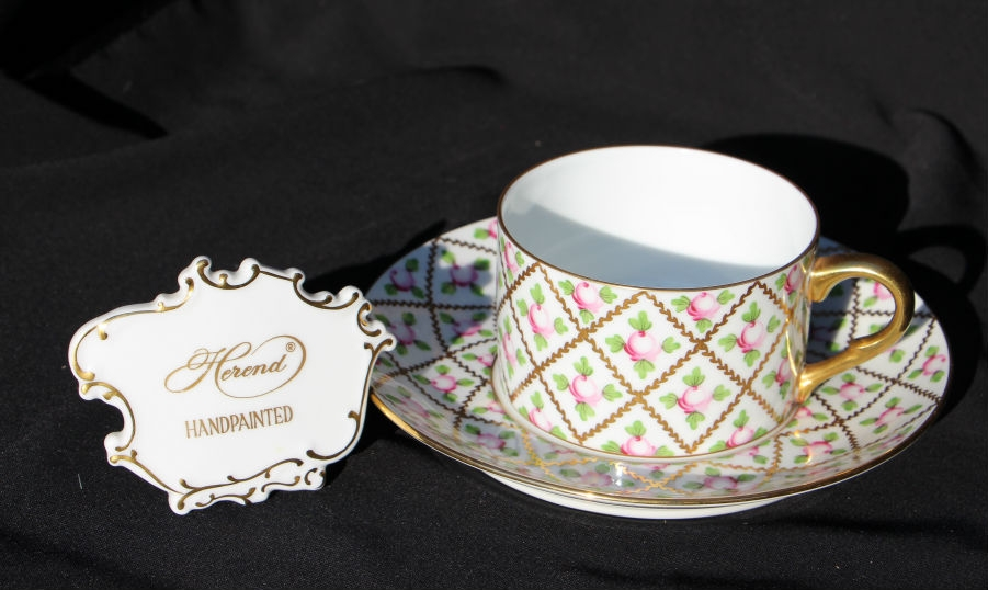 Teacup and Saucer - Sevres Roses