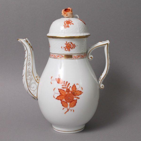 Coffee Pot, bud knob - Chinese Bouquet Rust