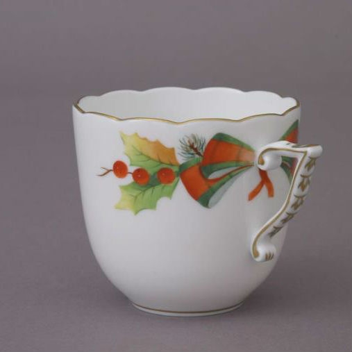 Coffee Cup and Saucer - Chinese Bouquet Rust