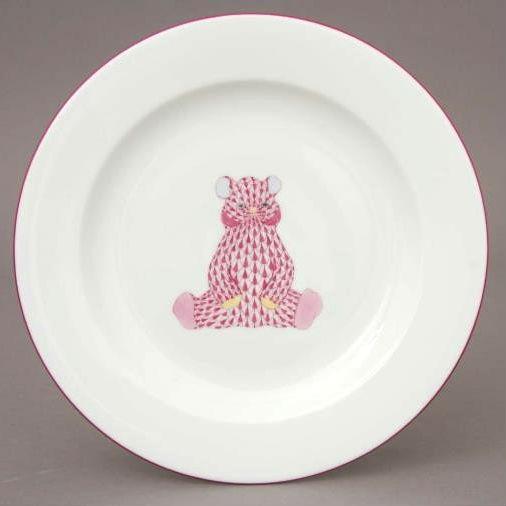 Fishnet Bear Blue - Dessert plate