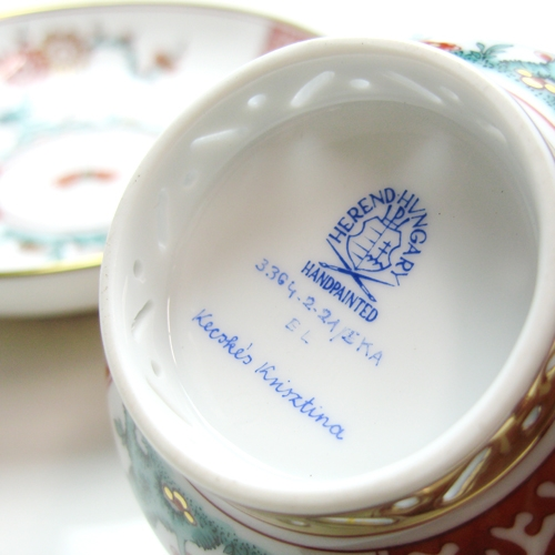 Teacup and Saucer, mandarin handle - Chinese Fish