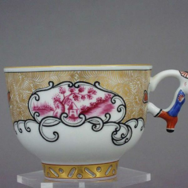 Canton - Teacup and Saucer, mandarin handle