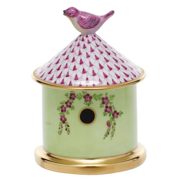 Bird house box - Fishnet Pink
