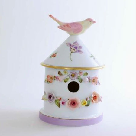 Bird house box - Double - Vienna Rose Lilac