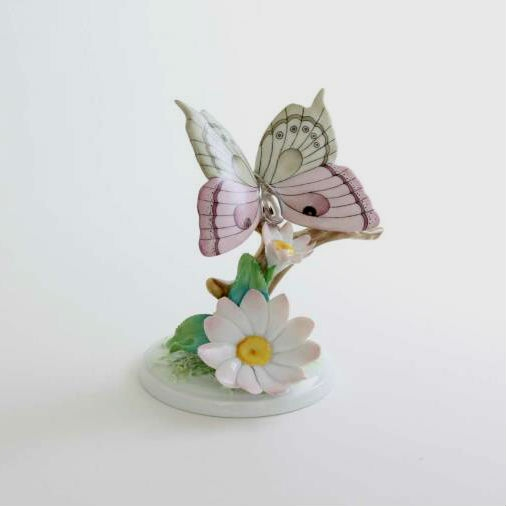 Flowers with butterfly - Platinum
