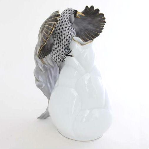 Vase with bird of paradise - Black