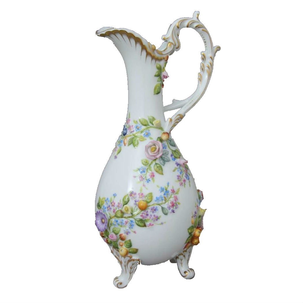 Jug with flowers - Natural