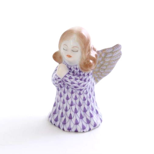 Small praying angel - Fishnet Purple