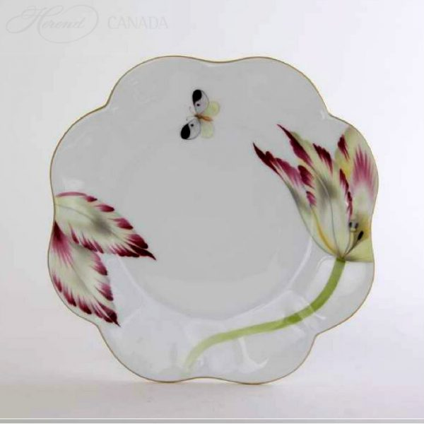 Tulip Green - Dessert Plate
