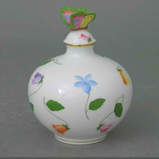 Perfume Bottle, butterfly knob (Assorted Decors)