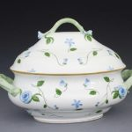 Soup tureen, branch knob - Turquoise Eclectic (4QT)