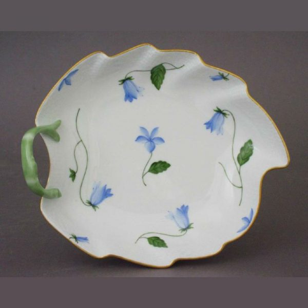 Small Leaf Dish - Indian Basket Blue