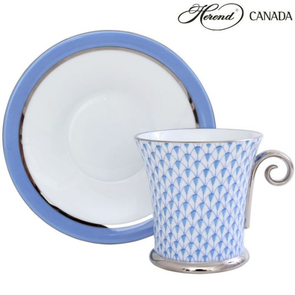 Fishnet Colors - Large Cup and Saucer