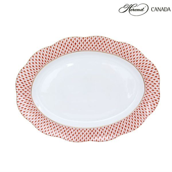 Fishnet Rust - Small Oval Plate