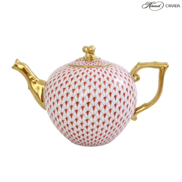 Fishnet Colors - Teapot, twisted knob