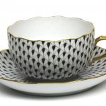 Fishnet Colors - Teacup and Saucer