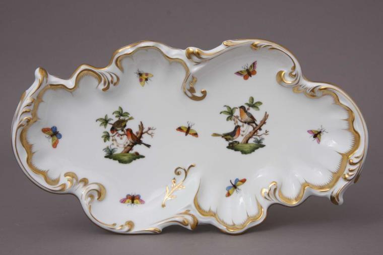 Rococo dish - Herend Rothschild Bird