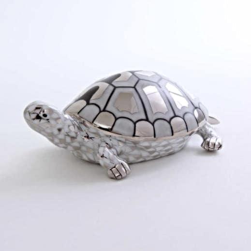 Herend-Turtle-Fishnet-Platinum-15302