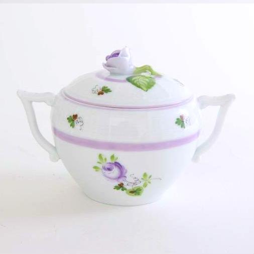 Vienna Rose Purple - Sugar basin, rose knob