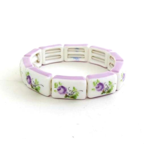 Chinese Bouquet Green Bracelet (9 links)