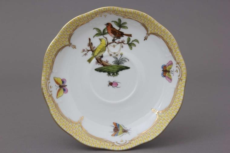 Tea Saucer - Rothschild Bird Blue