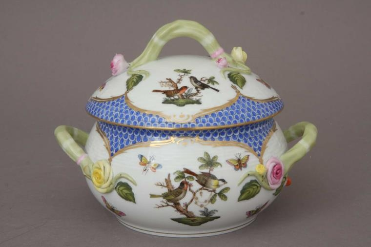 Soup tureen, branch knob - Rothschild Bird Blue