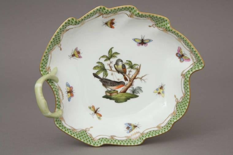 Small Leaf Dish _ Rothschild Bird Green