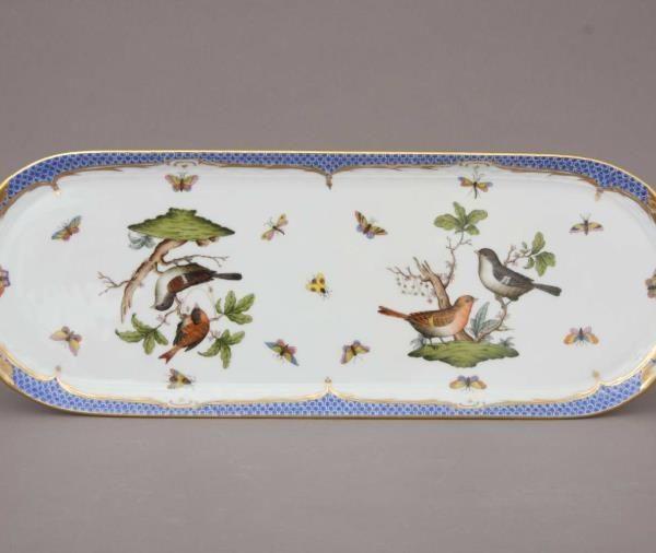 Large Sandwich Dish - Rothschild Bird Blue