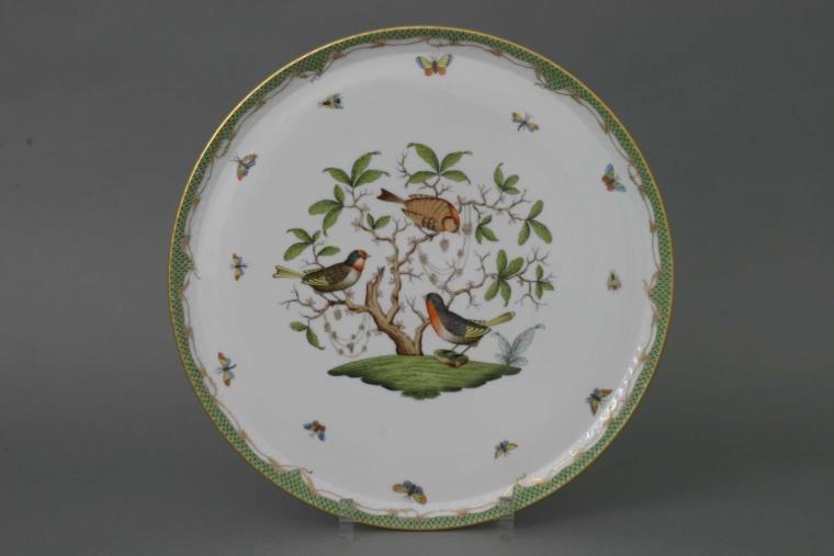 Large Round Tray - Rothschild Bird Blue