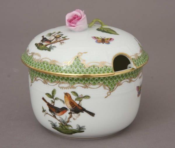 Jam pot, rose knob - Rothschild Bird Green