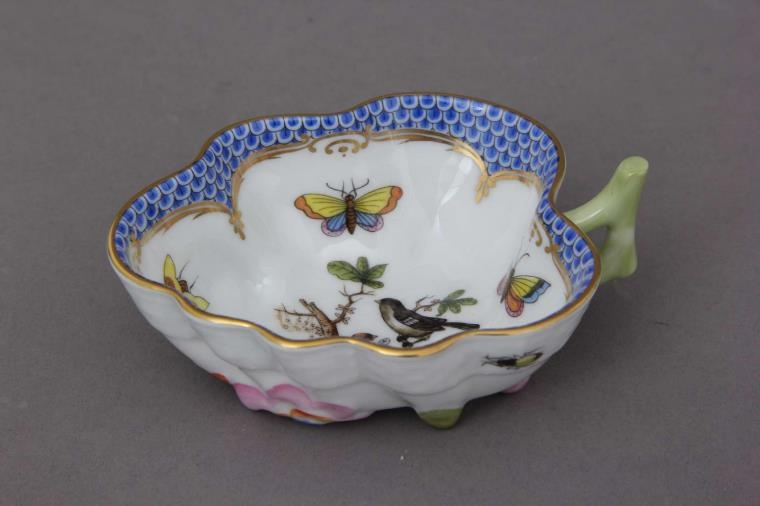 Sugar Bowl (Leaf shaped) - Rothschild Bird Blue