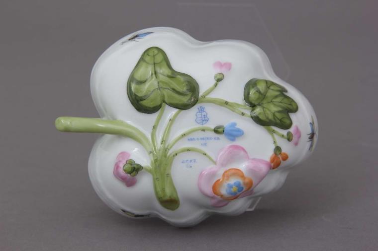 Sugar Bowl (Leaf shaped) - Rothschild Bird Blue