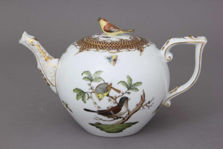 Teapot,bird knob - Rothschild Bird Brown