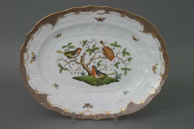 Large Oval dish - Rothschild Bird Colors
