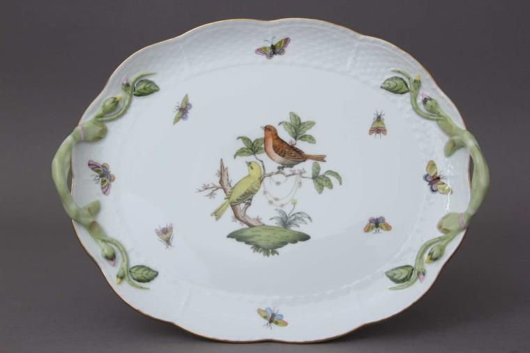 Oval Dish with handle - Rothschild Bird