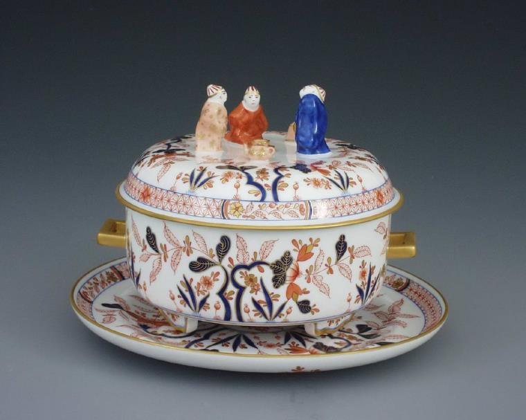 Tea caddy, mandarin knob - Canton Decor Herend Canada