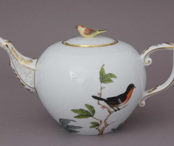 Teapot, bird knob - Rothschild Bird