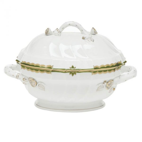Soup tureen, branch knob - Princess Victoria Colors