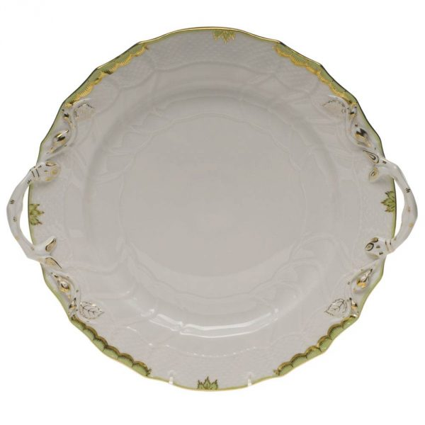 Cake plate, w. handle - Princess Victoria Colors