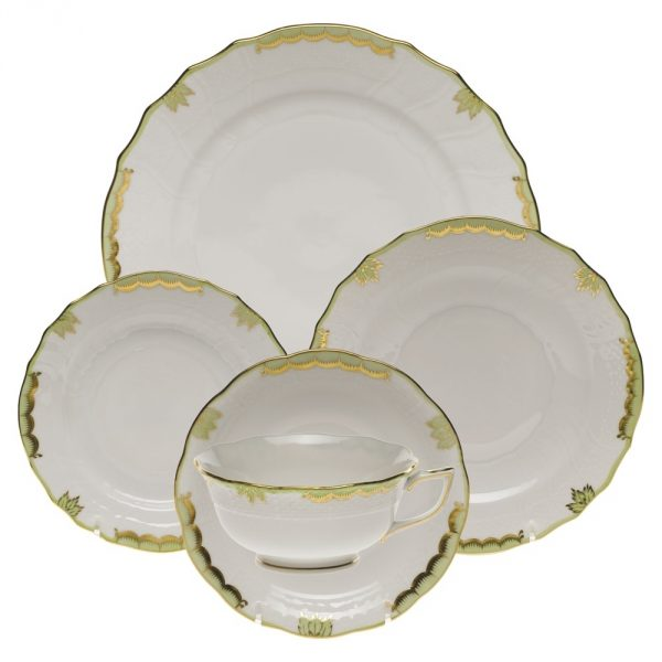 5 pcs. Place Setting - Princess Victoria Green