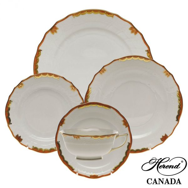 5 pcs. Place Setting - Princess Victoria Rust