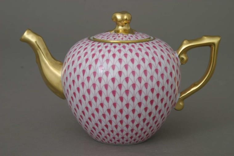 Teapot, twisted knob - Fishnet Pink