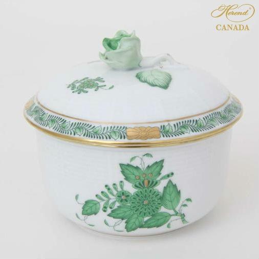Sugar basin, rose knob - Chinese Bouquet Turquoise Platinum