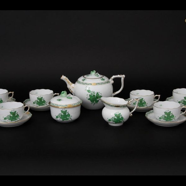 Teaset for 6 - Chinese Bouquet / Apponyi Green