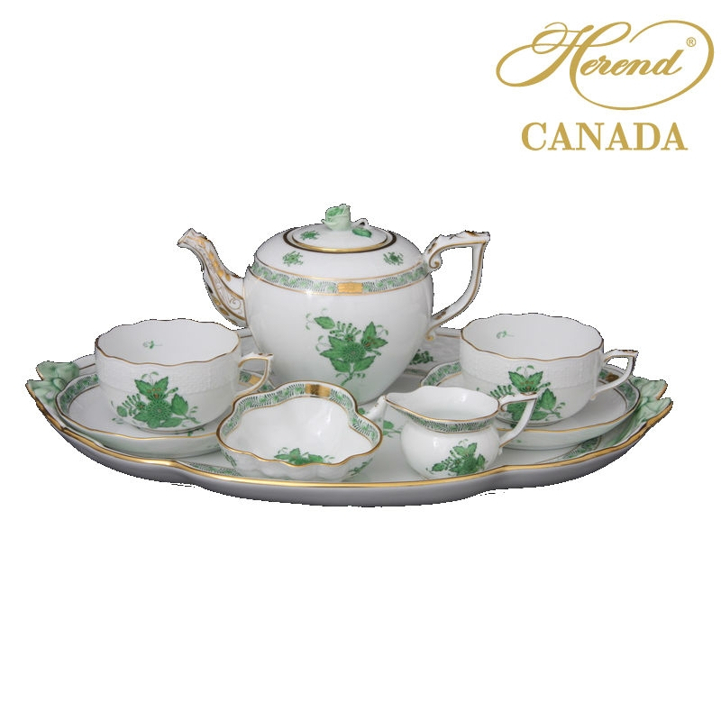 Teaset for 2 - Chinese Bouquet / Apponyi Green
